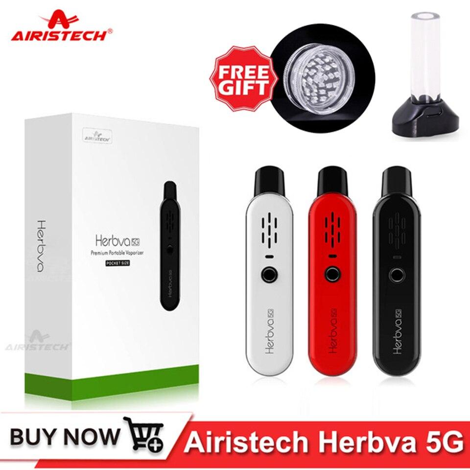 Original Airistech Dry Herb Vaper Kit Vape Pen Herbva 5G 1000mAh Battery 0 5 0 7ohm