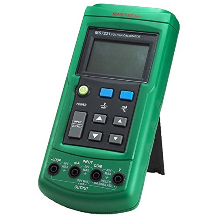 Mastech MS7221 Volt/mA Voltage Current Calibrator Source/Output Step DC 0-10V 0-24mA Tester Meter free shipping newest mastech ms7220 thermocouple calibrator meter tester thermocouple calibrator express shipping