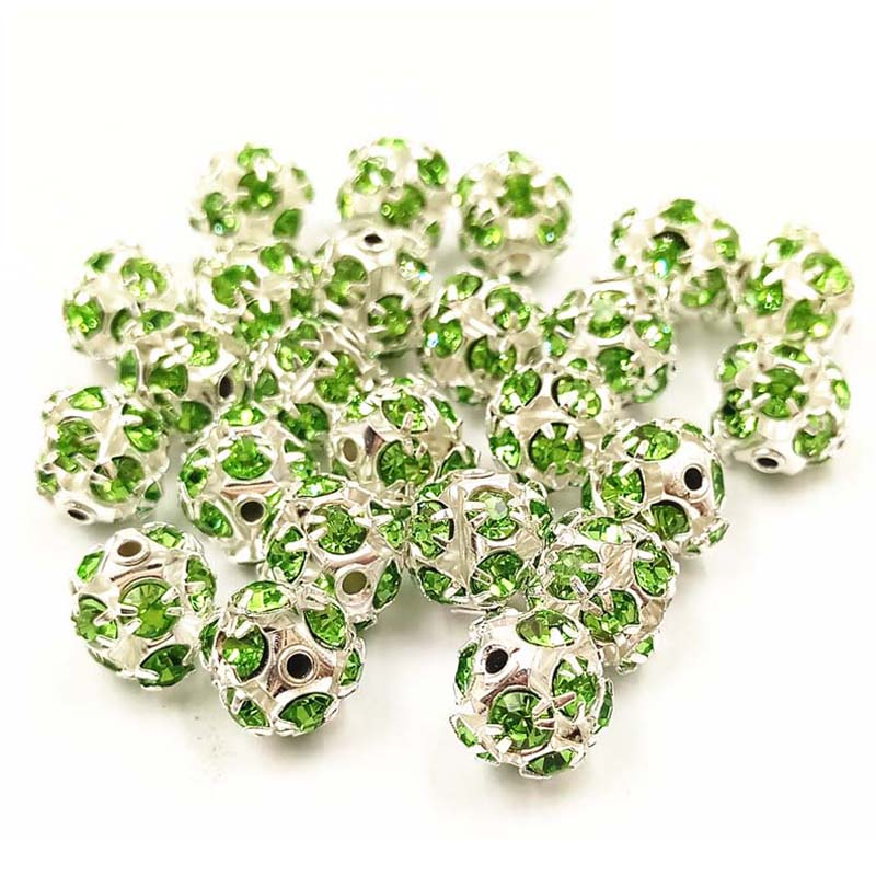 LNRRABC Fashion 10 Pcs lot Round Crystal Ball DIY Beads Jewelry Making Bracelet Necklace 12 Colors