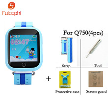 GPS Smart Watch Q750 Baby Children Anti Lost Watch SOS Call Location Device Tracker For Kid Safe Smartwatch With 1.54 inch Touch