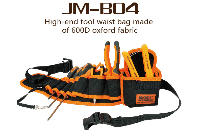 Jakemy Durable Hardware Mechanics Canvas Tool Bag Electrician Canvas Tool Bag Belt Utility Kit Pocket Pouch Organizer Bag JM-B04