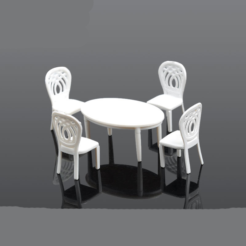 Oval tables and chairs5pcsset interior decoration make