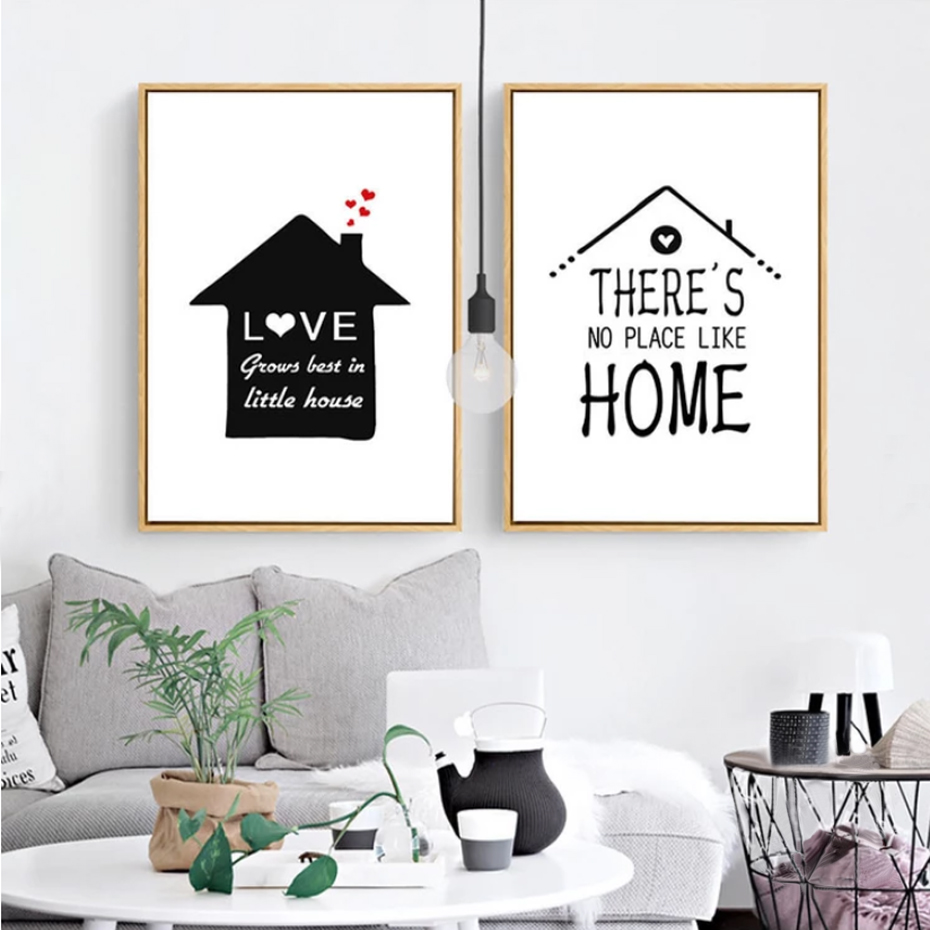 Us 3 41 40 Off Sweet Home Quotes Nordic Canvas Paintings Wall Art Pictures Poster And Print For Kids Living Room Home Decor Drop Shipping In