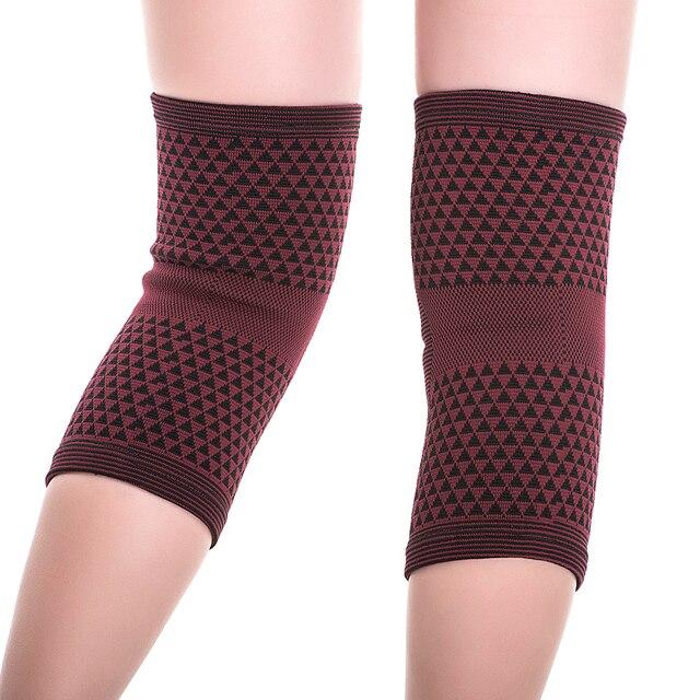 Tourmaline élastique élevée et genouillères magnétiques de santé pour les manches de renfort de protecteur de genou darthrite