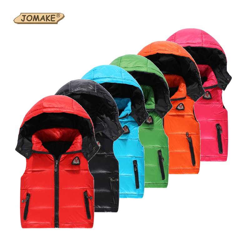 Kids Vest Coat Hooded-Jackets Duck-Down Zipper Baby Girl Boys Winter Children Warm