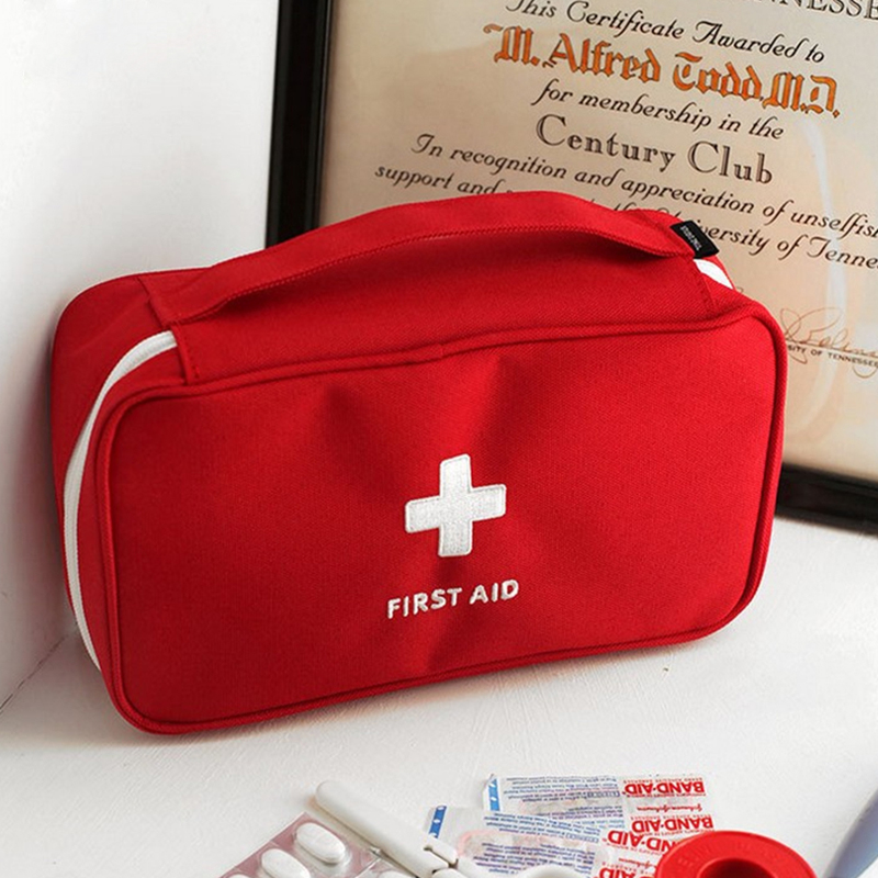 NEW First Aid Kit Emergency Waterproof Car kits bag Portable Household Multi-Laye Outdoor Travel Survival kit Empty bag 1 set outdoor emergency equipment sos kit first aid box supplies field self help box for camping travel survival gear tool kits