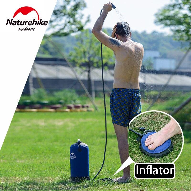 Naturetrekking sac à eau de douche Portable seau de douche extérieur camping randonnée voyage outils presse style seau facile à rincer