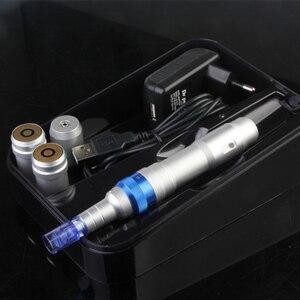 Image 3 - Bezprzewodowa maszyna dermapen Ultima A6 dr pen elektryczny System mikrokrwawienia z 2 sztukami akumulator
