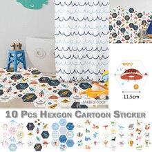 цена DIY Family Home Kids Cartoon Wall Sticker PVC Bathtub Room Wallpaper Self-adhesive Waterproof Bathroom Decor wall stickers D20 онлайн в 2017 году