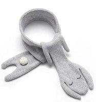 Winter Baby Accessories Scarf Warm Wool Kids Fox Scarf Fashion Girls Scarf Cotton Bibs Neckerchief Scarves