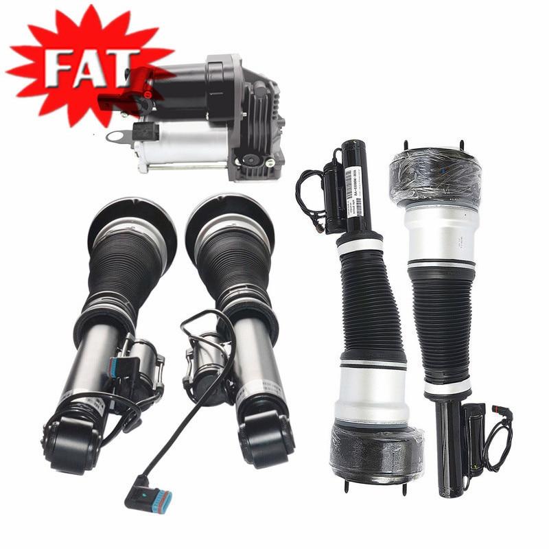5 PCS/Set Air Suspension Compressor+Front Rear Air Suspension Shock Strut For Mercedes W221 S320 350 C216 CL500 CL600 2213209313