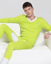 2015 New men's thermal long johns underwear set long johns basic cotton underwear set 5 colors