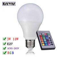 Cheapest RGB LED Bulb E27 5W 10W 20W Remote Control RGB LED Lamp Spot Light Bulb