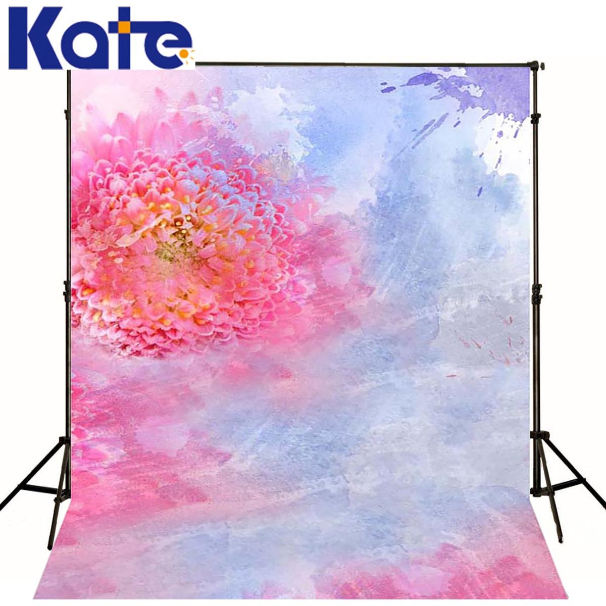 Kate 8x8tf Nouveau-Né Fond Bokeh Peinture Toile Printemps Floral Toile de Fond Pour La Photographie Photo Studio