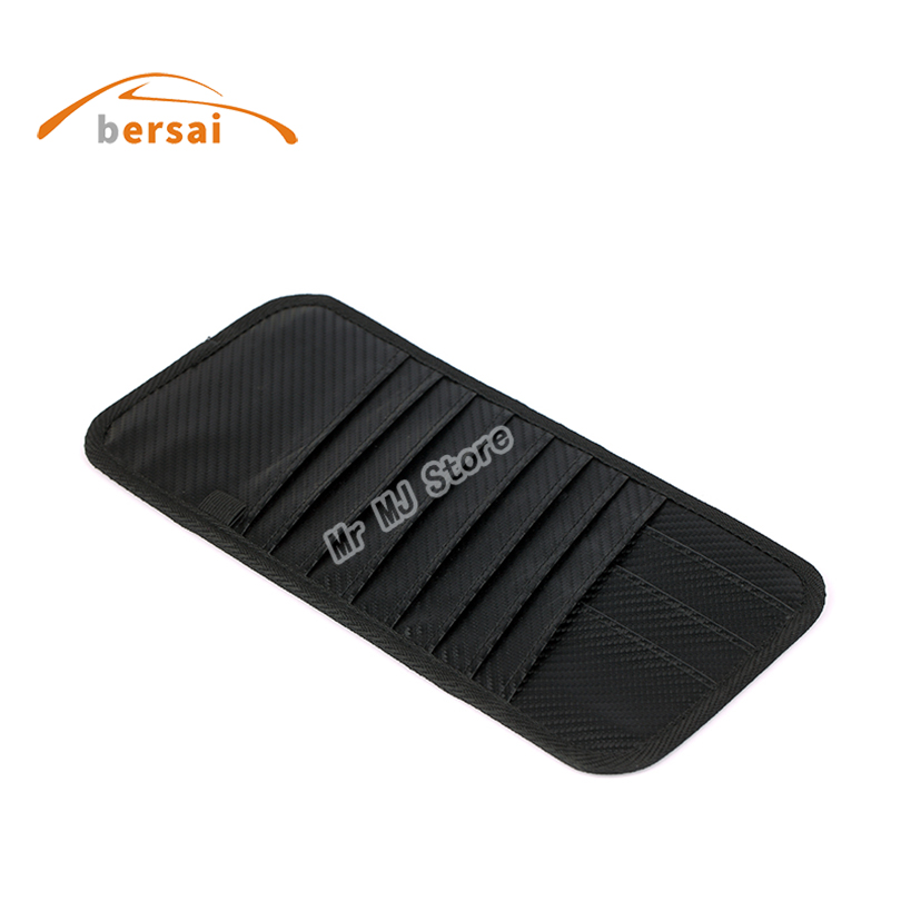MOMO Carbon fiber Car sun visor Sunshade storage bag Car styling for Bmw Volkswagen Ford Mustang Renault Toyota Seat accessories in Stowing Tidying from Automobiles Motorcycles
