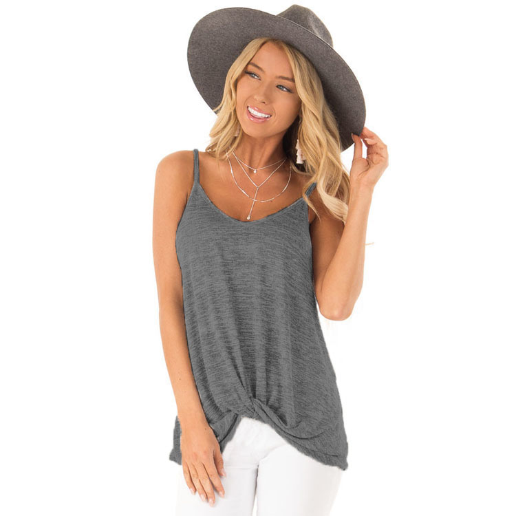 Women   tank     tops   2019 summer Fashion V Neck Casual Sleeveless T Shirt Cotton kink   Tops   Tee Shirt Plus size S-3XL