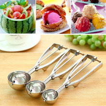 цены New Kitchen Ice Cream Thickened Stainless Steel Spoon Spring Handle Potato Spoon Kitchen Accessories 3 Dimensions