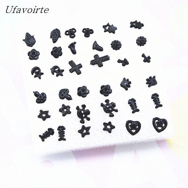 855c7b8d0 Ufavoirte 18 Pair/Set Classic Bead Claires Stud Earrings Set For Girls Gift  Fashion Accessories black Silver color