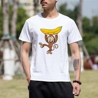 Men Clothes Fashion Animal Monkey Funny T Shirt Men Short Sleeve Anime Hip Hop Letters Men