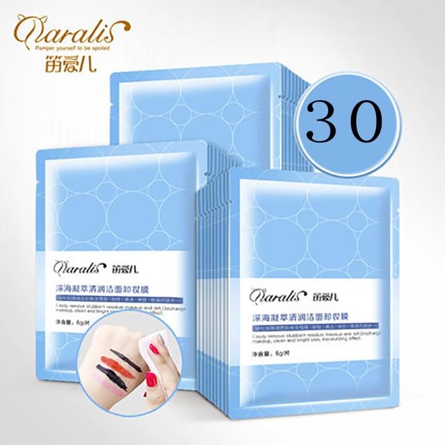 Daralis 30 Pcs Clean Eye Makeup Remover Wipes Moisturizing Make Up