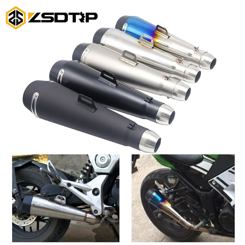 ZSDTRP 51mm Motorcycle Exhaust Muffler Pipe M4 Large Displacement Modified Pipe For Yamaha R6 For Kawasaki