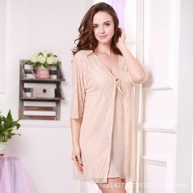 Кружева юбка сна ночная рубашка сексуальная пижамы женщин ночное белье лето прозрачный мода из двух частей костюм