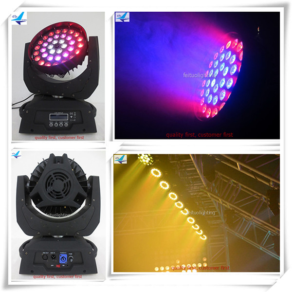 (16/lot)Party light led wash lights stage 36x10 led light circle off road zoom moving head lyre led