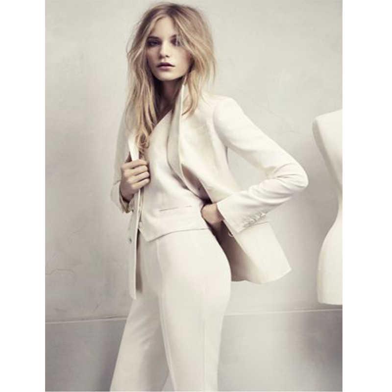 Conjunto de 3 piezas trajes de negocios para mujer Blazer pantalones de mujer traje uniforme de oficina elegante Formal de trabajo esmoquin de boda hecho a medida