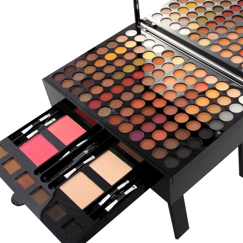 купить Hot Box Shape Eyeshadow Fashion Women Case Full Professional Makeup Palette Concealer Blusher Cosmetic Set недорого