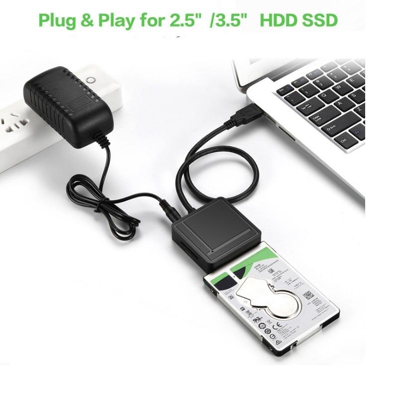 Tout en un USB 3.0 à SATA Adaptateur TF SD Lecteur de Carte USB 3.0 Hub 2 Ports Convertisseur 3 - 3