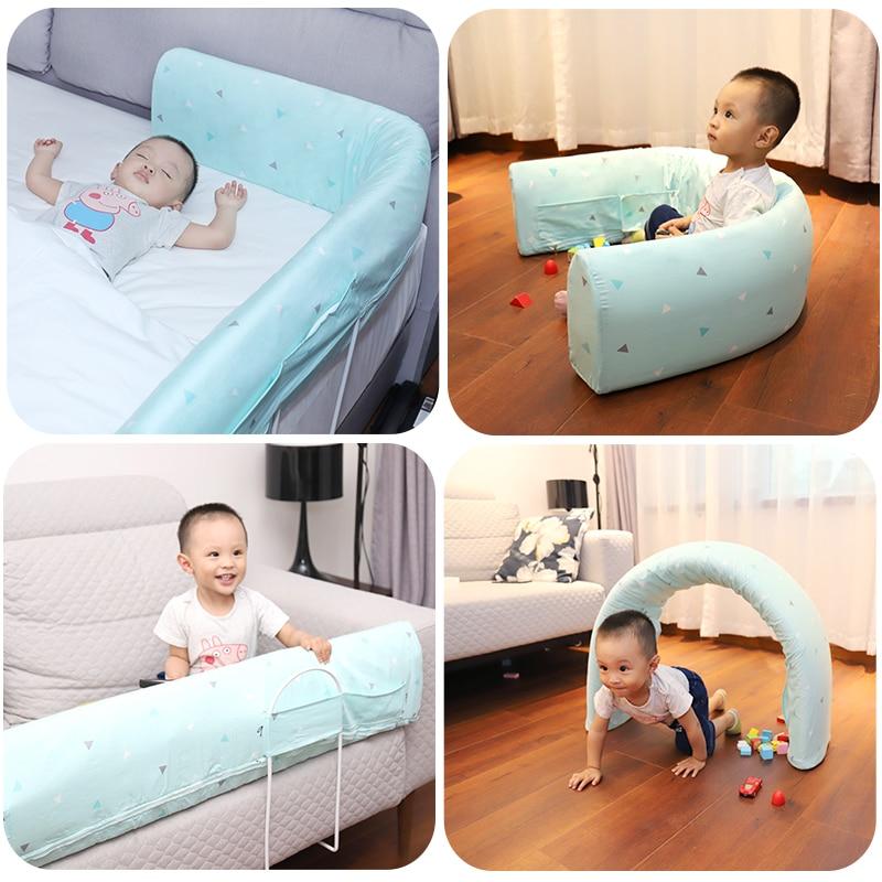 Barrière de lit pour bébé enfants garde-corps multifonction garde-corps enfant Rails sécurité dormir incassable 1.5-1.8-2 mètres lit