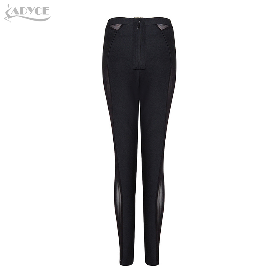 Pantalones Caqui Cremallera Mujer Sólido Celebridad Skinny Black 2018 Nuevo Vendaje Sexy En Trasero Largo Negro khaki Verano Encaje Stock Péncile 6qFgxWz0