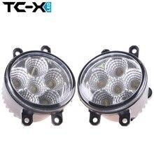 TC-X LED Fog Light 2pcs 18W 6000K White Foglights Daytime Running Light For Lexus IS GS LX HS RX Toyota RAV4 Camry Solara Avalon
