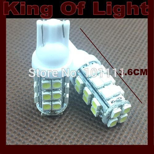 100X Wholesale Auto Car led clearance light W5W 194 28smd T10 28 LEDS SMD 3528 white blue red yellow green Free shipping !!!