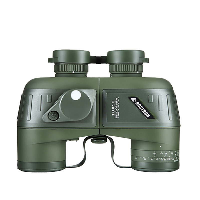 Binoculars 10x50 Zoom Telescope with Built-in Rangefinder military Binocular HD High times Waterproof night vision for hunting цена и фото