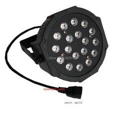 18X3W LED PAR DMX płaska lampa kolor rgb