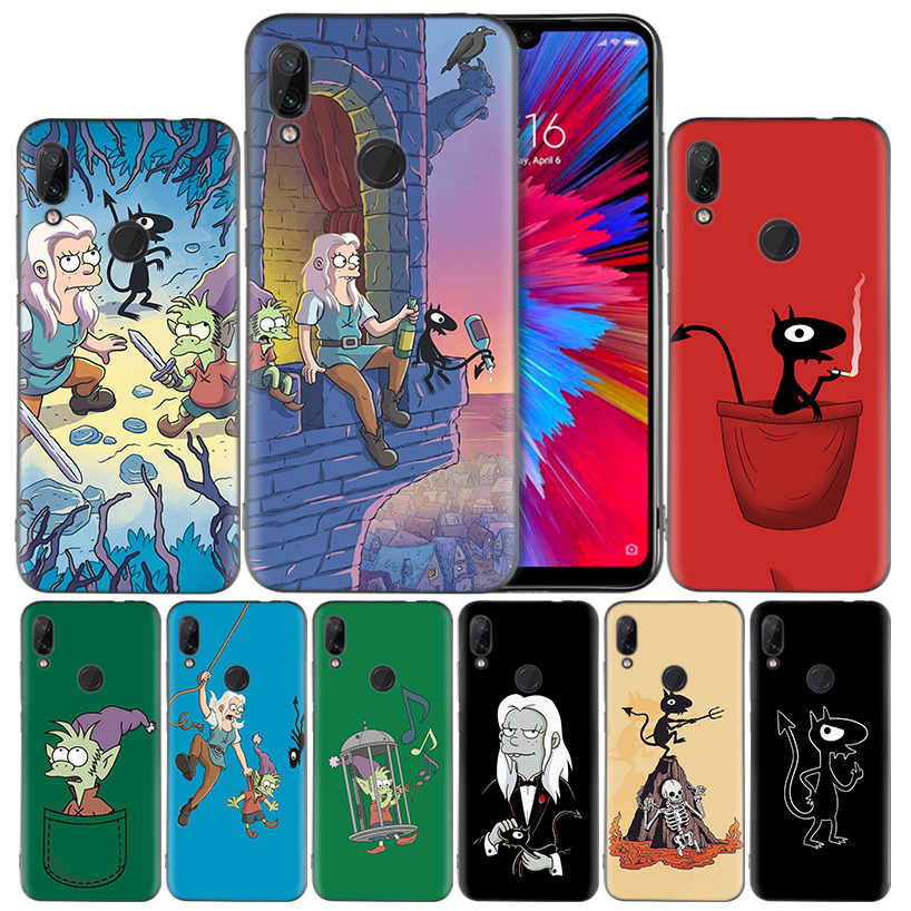 Disenchantment Anime Silikon Cover untuk Xiao Mi Mi 9 8 Bermain A1 A2 Merah Mi Note 7 6 6A 5 Plus S2 Pergi Lite Pro Pocophone F1