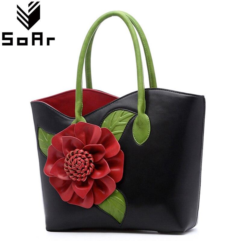 Steigen Luxus Handtaschen Frauen Taschen Designer Marke Floral Frauen Messenger Schultertasche Frauen Handtaschen Aus Leder Vintage Damen Totes