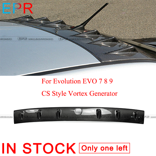 Carbon Fiber Vortex Generator Shark Fin Roof Spoiler for Evolution EVO 7 8 /& 9