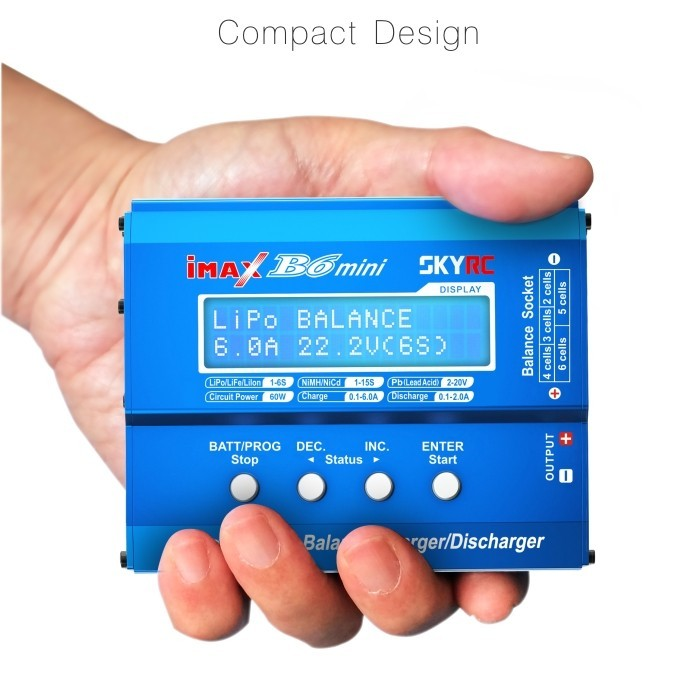 SKYRC iMAX B6 Mini 60w Balance Charger Discharger NiMh/NICD Charging Re- Mode for RC Battery Lipo Helicopter Drone F00032 for imaxrc imax b3 pro compact 2s 3s lipo balance battery charger for rc helicopter