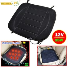 Heated Car Seat Cushion Cover Winter Seat Heating Heater Warmer Driver Chair Warm thermal Heat Cushion Accessories 35W 12V(China)