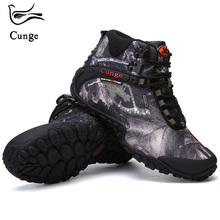 CUNGE Hiking Climbing Shoes DELTA Professional Waterproof Hiking Boots Tactical Boots Outdoor Mountain Climbing Sports Sneakers