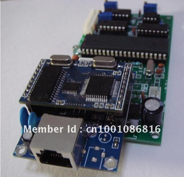 Local area network interface / D analog digital conversion board ADC - Development and design of electronic automation store