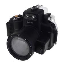 цена на Meikon 40M Waterproof Underwater Camera Housing Case Bag for Nikon D7100 Camera ( 18-55MM lens )