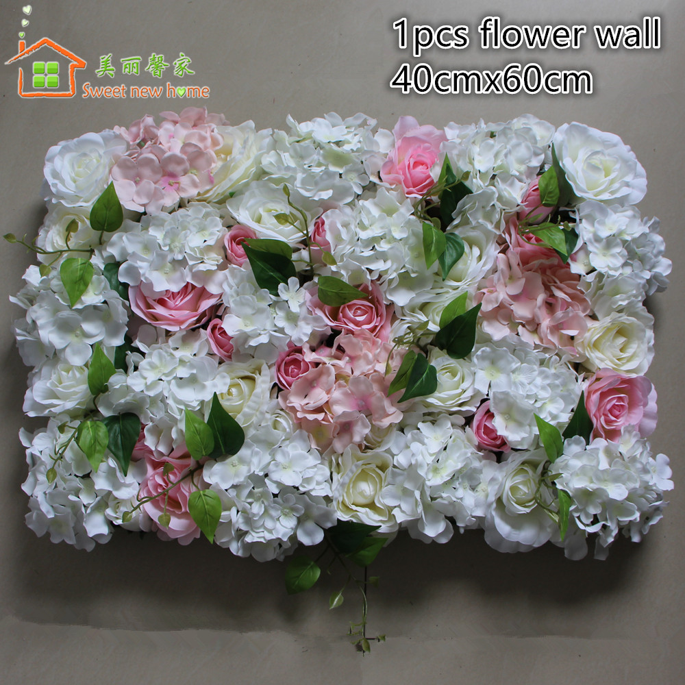 Sweet New Home Artificial Flower Wall Wedding Decorations Backdrop