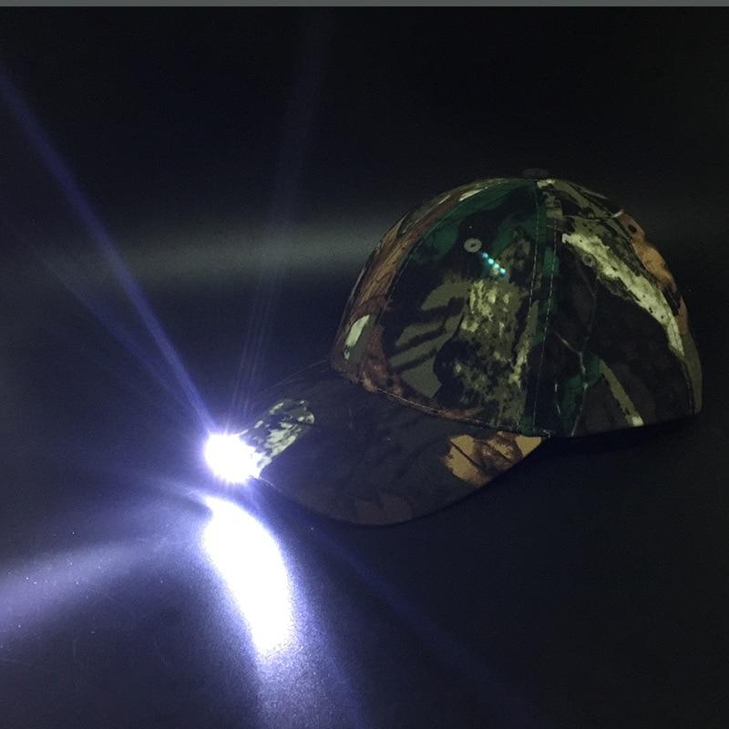 Noční rybářské čepice s 5 LED lampami