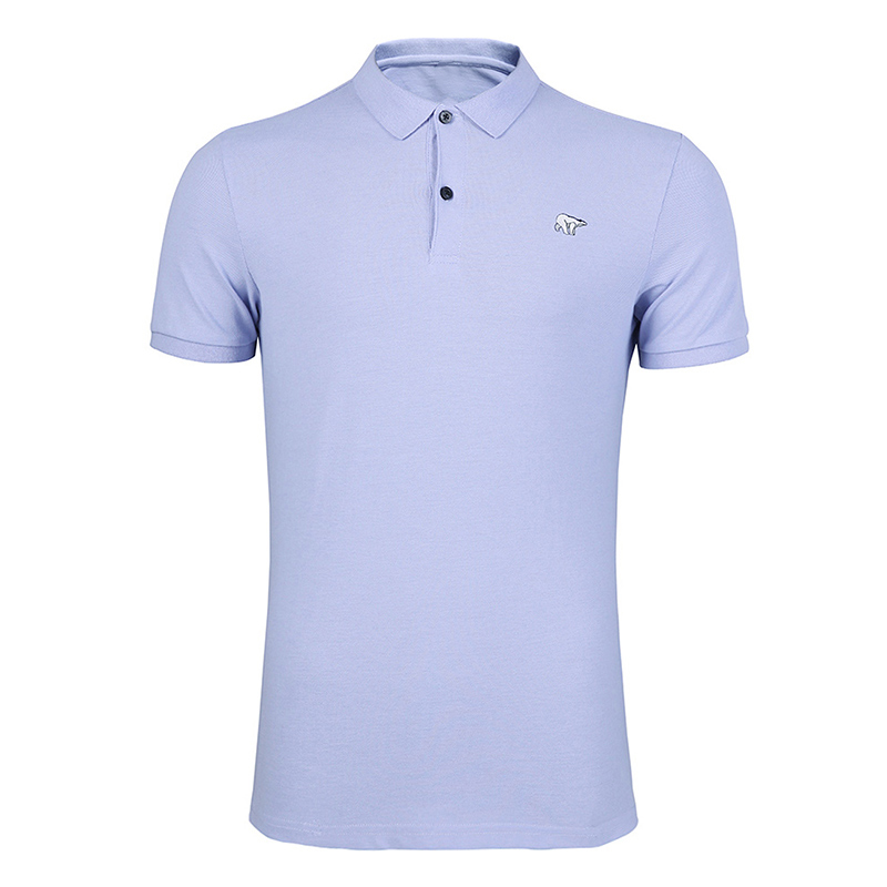 Pioneer Camp 2019 Mens Golf   Polo   Shirt Brands Short Sleeve Casual Top   Polo   Solid Color Bear Embroidery Pink Purple   Polo   Male