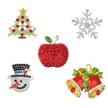 ФОТО christmas mix style rhinestone button tree snowflake snowman bells fruit for diy crafts invitation accessories 10pcs/lot(btn-m4)