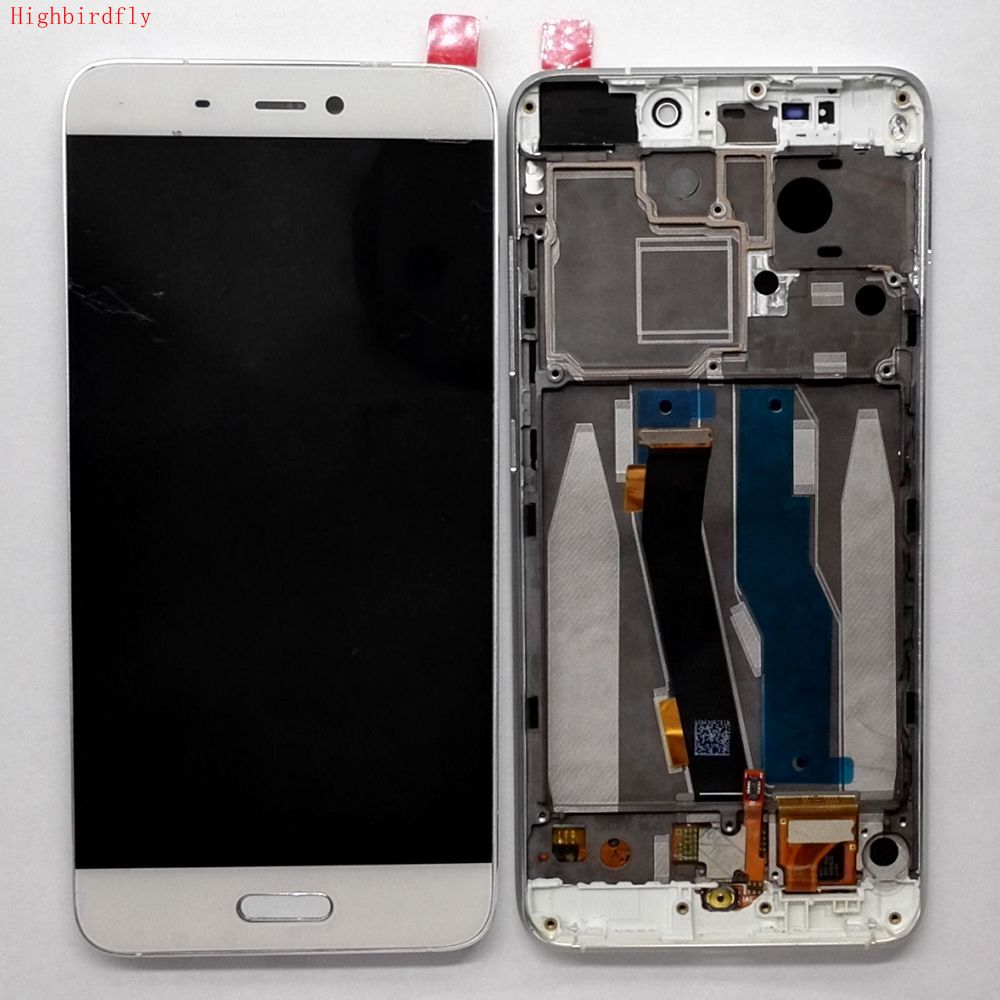 Highbirdfly For Xiaomi mi5 mi 5 Lcd Screen Display With Touch Glass Digitizer Front Frame Assembly Full Set Housing