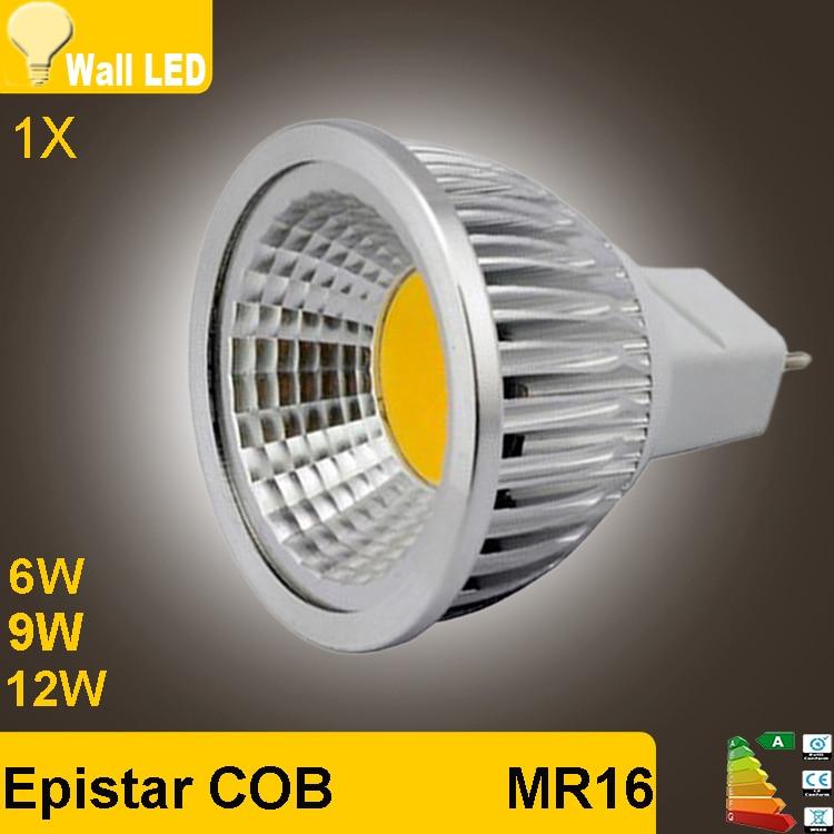 1pcs Super Deal MR16 COB 6W 9W 12W Dimmable LED Bulb Lamp